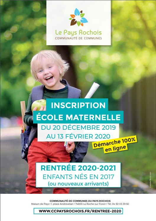 Inscriptions Maternelle 2020-2021